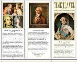 Time Travel Brochure Project French Revolution