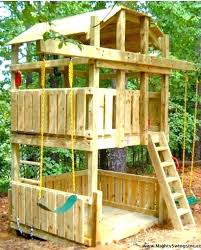 kid outdoor fort kids awesome swing i think would do a sand pit on the decorating plans