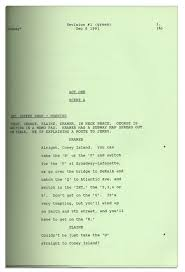 vintage script for seinfeld episode the subway from