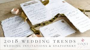 2018 wedding invitation trends coqui paperie gifts