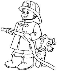 Small Picture Coloring Page Fireman Coloring Pages Ideas