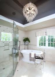 modern bathroom chandelier unique gray ceiling lets the chandelier shine through design sweet peas modern bathroom modern bathroom chandelier