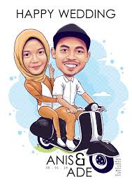 i will draw caricature for wedding gift