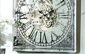 wall clock mirror large mirrored clocks square on diamond modern iron
