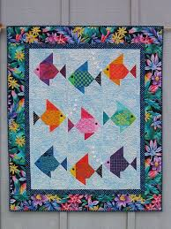 Fish quilts - a gallery on Flickr & Fish Quilt by Lisa Boyer Adamdwight.com