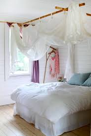 bed and window curtains for teen room