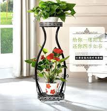 plant pot stand big size 2 pots balcony and indoor flower holder garden ceramic