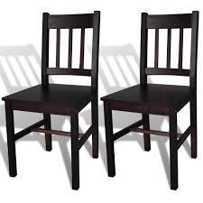 Esszimmerstühle 2 Stk Holz Braun