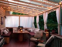 patio cover lighting ideas. Delightful Patio Overhang And String Lighting With Cover Ideas Also Outdoor Seat Cushions N