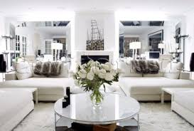 Big Floor Flower Vase Idea Soft Brown Leather Couch Living Room