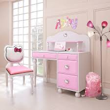 DreamFurniture Hello Kitty Desk w hutch Chair