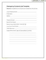 Family Contact List Template Emergency Contact List 7 Templates Printable For Babysitter Template