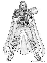Thor Coloring Pages | ngbasic.com