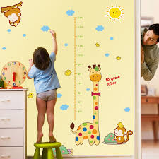 Dresser Size Chart Details About Giraffe Measure Growth Height Chart Vinyl Wall Sticker Decal Nursery Kids Baby