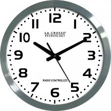 wt 3161wh 16 inch atomic wall clock atomic time time browse products