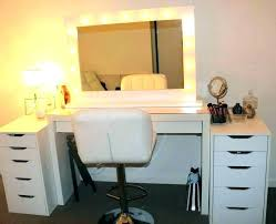 vanity table with lighted mirror vanity table set big makeup vanity set large size of makeup