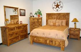 natural finish reclaimed wood rustic bedroom set