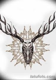 эскиз тату олень 23022019 095 Sketch Tattoo Deer Tatufotocom