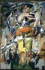 woman and bicycle 1952 willem de kooning
