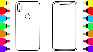 Learn Colors For Kids With Iphone X Coloring Pages For Kids