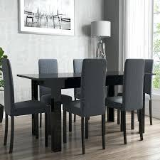 black high gloss dining table extendable black high gloss dining table 6 slate chairs oslo 120cm black high gloss dining table white