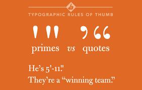 quotes marks quotation marks apostrophes versus primes carson park design