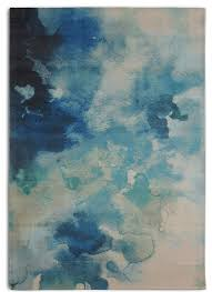 blue contemporary watercolor luminous area rug contemporary area rugs by rugsmith