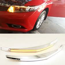 2008 Honda Civic Daytime Running Lights 2pcs 12v Drl Daytime Running Light Car Headlight Eyebrow
