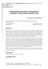 Pdf) Engineering Job Skills In Croatian...
