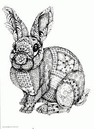 Animals are probably what children prefer to color ! Difficult Animal Coloring Pages A Rabbit Coloring Pages Printable Com
