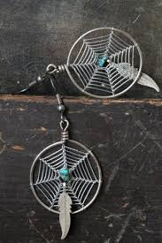 Spider Web Dream Catcher Classy Vintage Southwestern Sterling Silver Turquoise Spider Web Dream