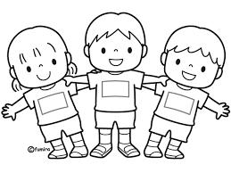 運動会で組体操をする子どものイラストカラー 子供と動物の