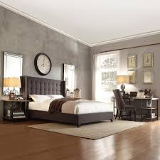 dark grey upholstered bed. Contemporary Upholstered HomeSullivan Franklin Park Dark Grey Queen Upholstered Bed40315BQ1DGB   The Home Depot Inside Bed H