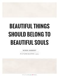 Beautiful Souls Quotes Best of Beautiful Things Should Belong To Beautiful Souls Picture Quotes