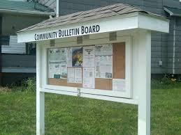 Exterior Bulletin Board Set Plans