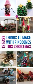 14 Easy Pinecone Crafts to Decorate Your Home this Christmas!
