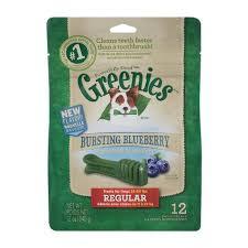 Greenies Dental Chews Regular Size Blueberry Flavour 340g