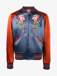 gucci embroidered appliqué er jacket