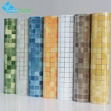 Großhandel Badezimmer Wandaufkleber Pvc Mosaik Tapete Küche