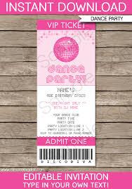 Dance Invitation Ideas Dance Party Invitation Template Oddesse Info