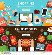 Online Shopping Preparing For Holidays Wrapping Of Christmas Gifts
