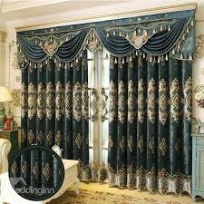 53 european royal high quality soft chenille decorative and blackout curtain for living room