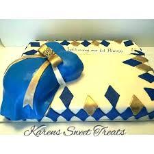 Royal Blue Baby Shower Cake Omla