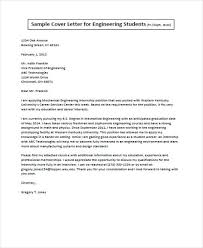 Cover Letter Engineering Student Job Application Letter For Engineer