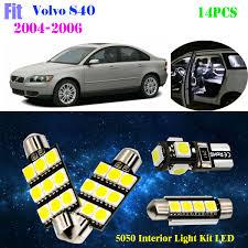 Volvo S40 Lights Details About 14pcs 5050 Led Xenon White 6000k Interior Light Kit Fit For 2004 2006 Volvo S40