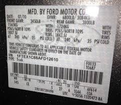 Identify Your Ford Truck Axle From The Door Sticker Blue