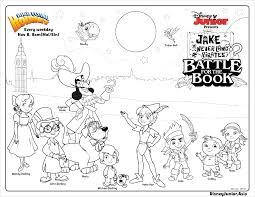jake and the never land pirates battle for the book colouring page