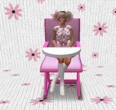 Pied Piper Adult Baby Highchair - pink Second Life Marketplace