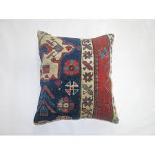 blue antique heriz rug pillow