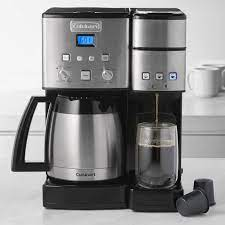 If you want hot coffee on standby for throughout the day, a thermal carafe coffee maker is an excellent choice. Cuisinart Coffee Center Single Serve Coffee Maker With Thermal Carafe Williams Sonoma